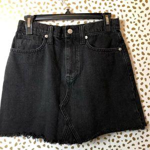 MADEWELL black denim skirt SZ 26